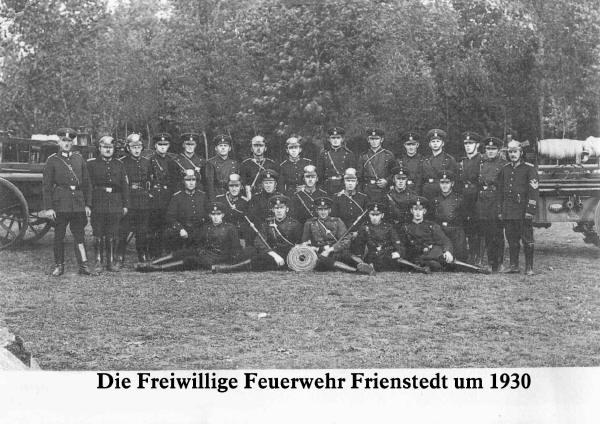 Feuerwehr Frienstedt um 1930
