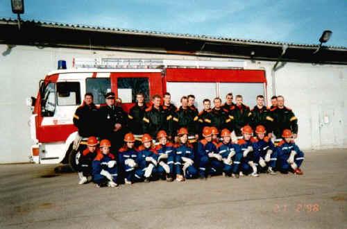 1998, Einsatzabteilung und Jugendfeuerwehr