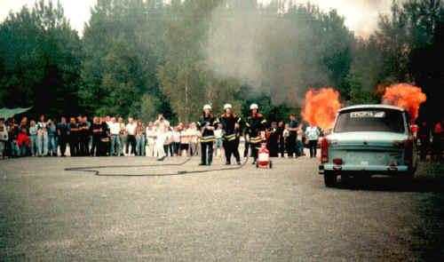Einsatzübung 1996, PKW-Brand