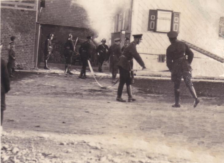 Einsatzübung um 1935